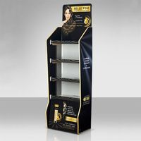 Floor standing pvc daily use products display rack pvc board promotion display stand