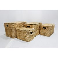 Water hyacinth dirty cloth laundry basket for hotel - SD7931A-4NA