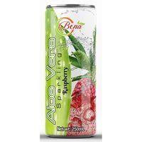 sparkling aloe vera raspberry juice drink from BENA beverage companies exporter thumbnail image