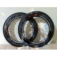 2012 Zipp 808 Firecrest Carbon Clinchers Road TT Bike Wheels with Tangente Tires thumbnail image