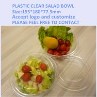Plastic salad packaging bowl