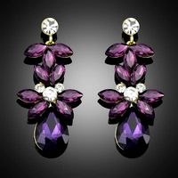 Purple earrings for Women Wedding Fashion Jewelry Water Drop wholesale price Bc006 thumbnail image