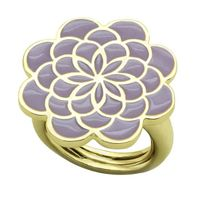 Hot sale enamel rings with flower decorated