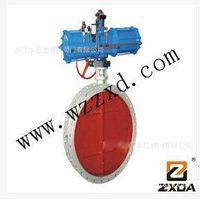 AW large diameter pneumatic butterfly valve