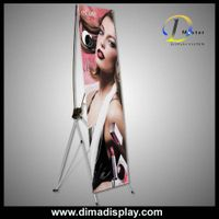 DM 60*160cm X banner,retractable banner stand