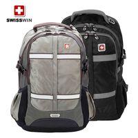 High-end fashion business backpack SWISSWIN Army Knife Backpack 15.6 inch black backpack