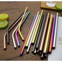 Eco friendly wine accessories metal drinking milk bubble tea straw