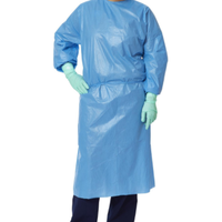Polyethylene-Coated Polypropylene Isolation Gowns