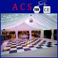 2014 ACS new product portable dance floor/black and white dance floor/dance floor used/removable dan