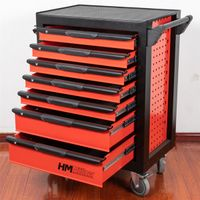 steel tool cart Model NO XS752-A1 with 7 drawers