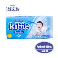 Kibie Disposable baby diapers made in Korea quick dry diapers with magic tape Size M