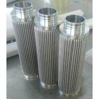 Stainless Steel 316LPorous candle filter / pleated type sintered fiber felt filter thumbnail image