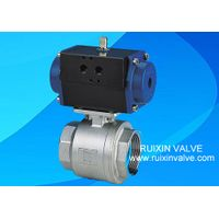 2PC Stainless Steel BSP ball valve with Pneumatic Actuator