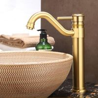Antique Brass Carved European Style Mixer Water Bathroom Sink Tap TA330L