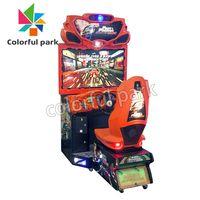 Colorful Park Arcade Car Racing Driving Simulator Kids Riding Game Machine thumbnail image