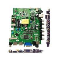 32inch LED TV Main Board with Power Supply, Panel Inverter, USB Multimedia Function