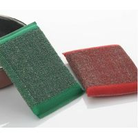 3PK Steel Scrub, Heavy Duty Woven Stainless Steel Sponge Pad