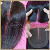 Top 18inch Black Straight Human Hair Full Lace Closure