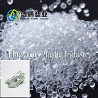 Soft transparent colorful PVC compound for PVC shoes