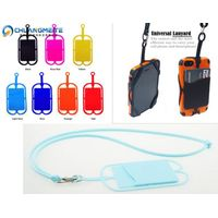 Universal mobile phone card holder silicone lanyard neck hanging chain lanyard promotional gifts thumbnail image