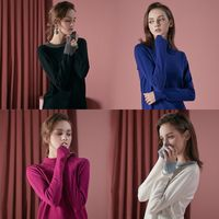 LADIES' PULLOVER KNITTED SWEATER thumbnail image