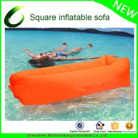 New Hot Nylon Ripstop Fabric Inflatable Air Couch Lazy Hangout Sleeping Air Laybag Inflatable airbed