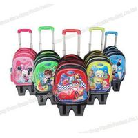 fashionable 3/6 wheels climbing stair 3D cover kids cheap trolley school bags children trolley bag