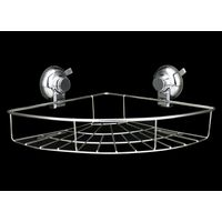2020 SUS304 Stainless steel Suction Cup Corner Shower Caddy