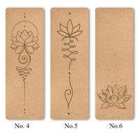 Customied natural cork rubber yoga mat thumbnail image