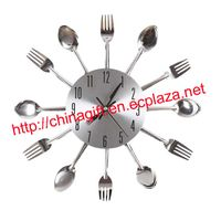 Cutlery Kitchen Fork & Knife Wall Clock thumbnail image