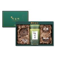 Bamboo Tea Gift Set_Bamboo leaf tea 30g+Glass tea wear set for double