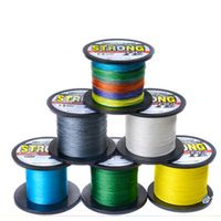 1000m multicolor 10lb-70lb 4X Line Extreme Strong PE Multifilament Braided Fishing Line thumbnail image