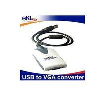 eKL USB to VGA converter adapter USB 2.0 for Extra Multiple Display Monitor thumbnail image