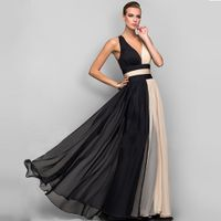 A-line V-neck Sleeveless Evening Dress Formal