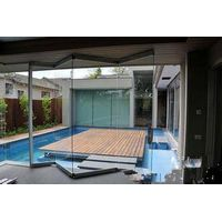 No border aluminum sliding doors, glass folding doors, doors for your home to maximize space utiliza thumbnail image
