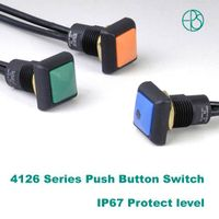 IP67 Level push button with wire