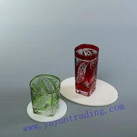hand cut glass beer glass mug