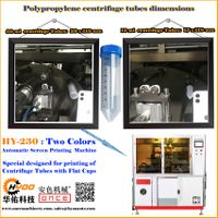 Huayu Automation - HY-230 Two Colors Automatic Screen Printing Machine for PP PE Centrifuge Tube