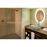 Fancy Round Backlit LED Light Illuminated Bath Mirror