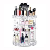 360-Degree Rotating Makeup Organizer Adjustable Multi-Function Makeup Storage Shelf thumbnail image