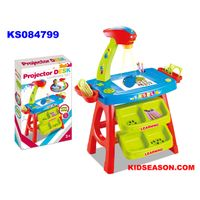 KIDSEASON kids drawing toys desk with projector