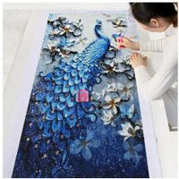 Binqian DIY Diamond Painting Special Accessories Diamond Embroidery Animal Peacock Complete 5D Rhine