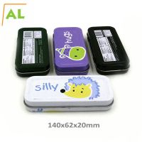 Chinese rectangle hinged pencil tin box packaging