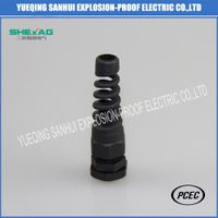 Spring nylon Cable Gland Black IP68