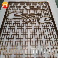 Interior partition wall living room divider stainless steel screens for luxury villa decoration