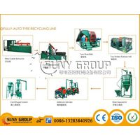 High recovery rate used rubber tires recycling machine
