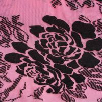 Fancy flower mesh flocking fabric for lingerie, underwear,clothes