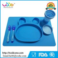 toddler placemat BPA free silicone plate