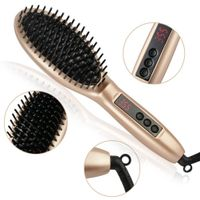 New-arrival updated gorgeous ceramic tourmaline coated instant hot electric hair straightening brush