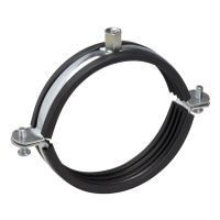 High Quality Galvanized Steel Pipe Clamp With Rubber